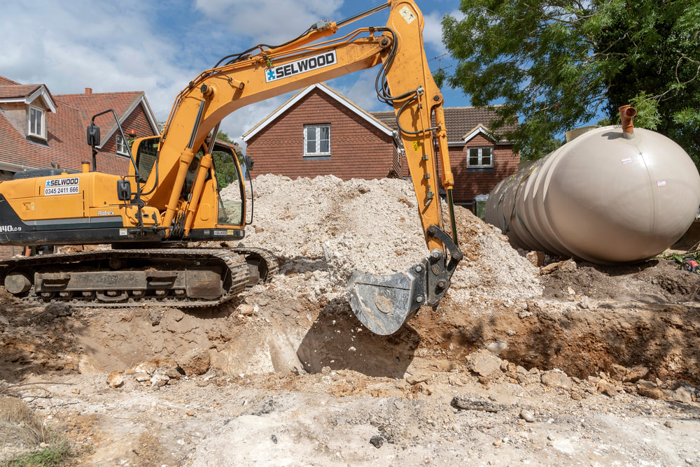 Installing Septic Tank Houston